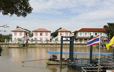silty: View of the Chao Phraya River in the Bang Pa-in region, Thailand