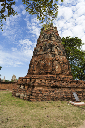 octogonal: Detail of the Octagonal Pagoda at Wat Mahathat, Temple of the Great Relic, a Buddhist temple in Ayutthaya, central Thailand Foto de archivo