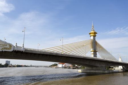 nonthaburi province: Maha Chesadabodindranusorn Bridge is a cable stayed bridge over the Chao Phraya River  in Nonthaburi Province, Bangkok, Thailand.