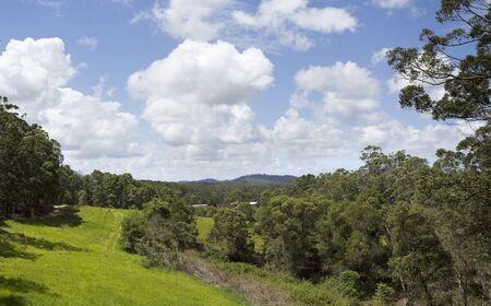 hinterland: Landscape view of the Yandina hinterland in Queensland, Australia Stock Photo
