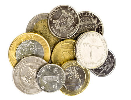 Background of coins of some world countries Фото со стока