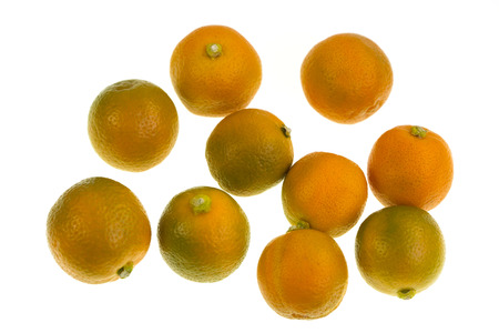Calamondin, also known as calamansi or Citrofortunella microcarpa, ir a plant and fruit of the citrus family which resembles a small, round lime Stock fotó