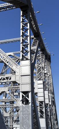 Detail of the Story Bridge, a steel truss cantilever bridge spanning the Brisbane River, in Brisbane, Australia Stock Photo