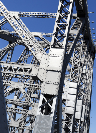 Detail of the Story Bridge, a steel truss cantilever bridge spanning the Brisbane River, in Brisbane, Australia Editorial