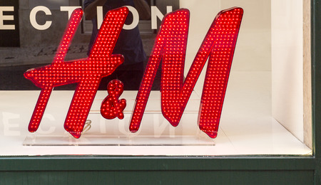 International H & M store in the historic centre of Lisbon, Portugal