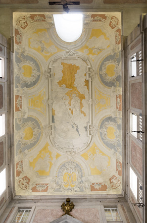Vaulted ceiling roof, painted with the Triumph of Our Lady of the Conception of unknown author, in Lisbon, Portugal