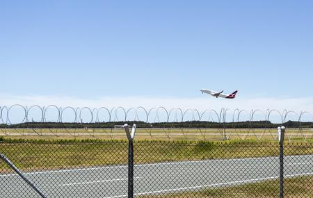 Qantas Airways Boeing 737-800 taking off from Brisbane Airport, Australia