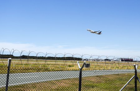 Fiji Airways Boeing 737-800 taking off from Brisbane Airport, Australia Editorial