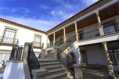 Classic house with verandah and granite staircase, in Amarante, Portugal