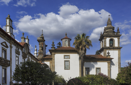 Lateral view of the chapel facing the gardens of the Mateus Palace, in Vila Real, Portugal Editorial
