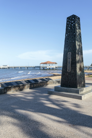 War Memorial on the beach front in Anzac Place, Redcliffe, Queensland, Australia
