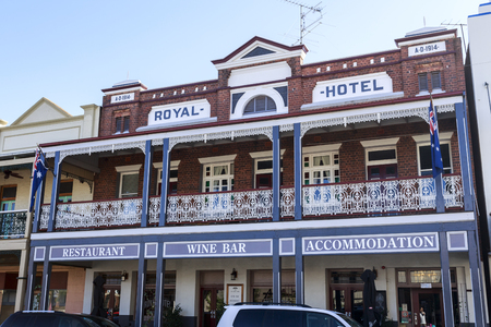 View of the iconic Royal an outback pub built in 1914 in West Wyalong, NSW, Australia