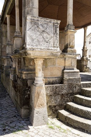Outdoor pulpit of the Chapel of Saint Anthony (Capela de Santo Antonio), built between the 15th and 17th centuries in Caria, Castelo Branco, Portugal Stock Photo