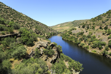 View of the Coa River, a tributary belonging to the Douro catchment in Portugal
