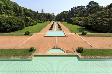 The Central Parterre, with water as its main element and principal theme, is the garden located in front of the Villa in Serralves, Porto, Portugal