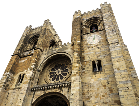Built in the 12th century in late Romanesque architectural style is the Cathedral of Lisbon, Portugal