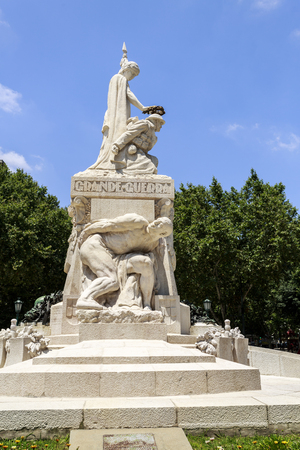 View of the monument honouring the Portuguese combatants in World War I, in downtown Lisbon, Portugal.Sculpture by Maximiano Alves.Transl: Great War