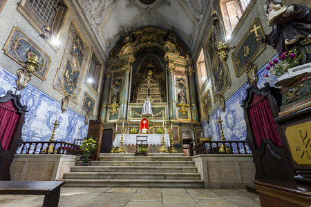 View of the main chapel of the Church of the Flamengas at the Convent of Our Lady of Quietude, in Alcantara, Lisbon, Portugal