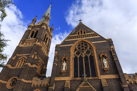 Saints Mary and Joseph, a Catholic Cathedral built in 1912 in the Federation Gothic Revival style, is a grand and impressive building in the town of Armidale, NSW, Australia