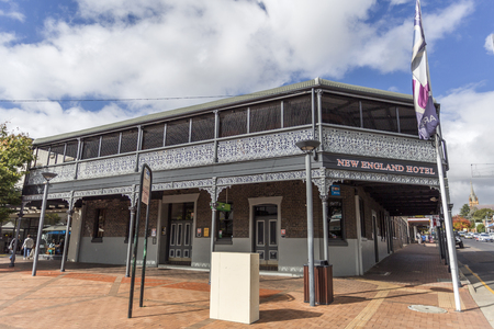 The Newie (New England Hotel) was established in 1857 and the current building was erected in 1897 being now a prominent structure in Armidale, NSW, Australia Redakční