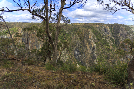 Spectacular panoramic view of the Wollomombi Gorge, a wild river in New England National Park, Northern New South Wales, Australia