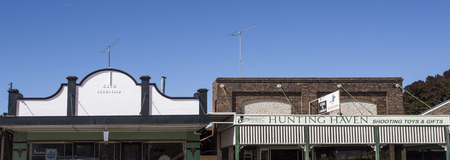 Old buildings showing Victorian and Edwardian architecture from the turn of the 20th century in the rual town of Uralla, New South Wales, Australia