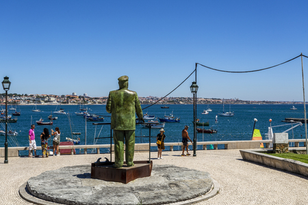King Carlos I of Portugal looking at his beloved Bay of Cascais, in Cascais, Portugal