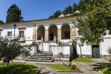 View of the former Priests House located in the front garden of the Monastery of Saint Mary of Lorvao, Coimbra, Portugal
