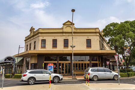 View of heritage buildings of the town of Parkes, located in New South Wales, Australia