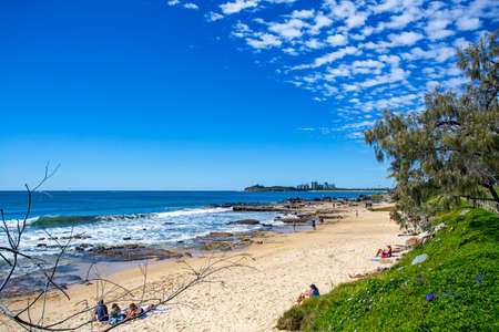 View of the beach strip in Mooloolaba, Queensland, Australia