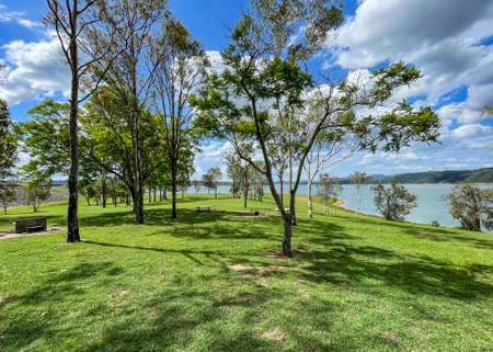 View of Cormorant Bay recreation area, located at Lake Wivenhoe, the largest lake in Sout East Queensland, Australia Stock Photo