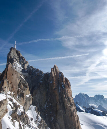 View of Aiguille du Midi in Chamonix