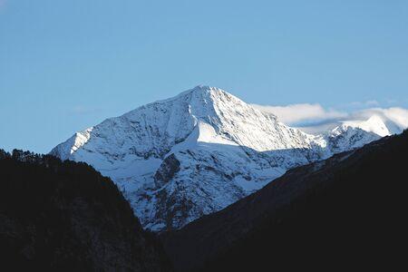 Scenic view of peak of Arolla in the Swiss Alps Stock fotó