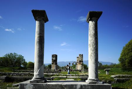 Ruins of ancient Greece near Thessaloniki in Phillipi
