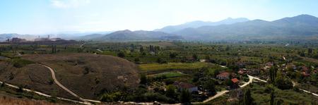 Landscape of Kavadarci region in FYR Macedonia