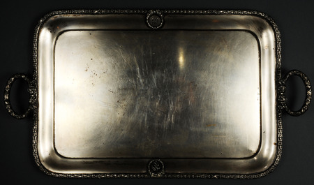 Isolated Metal tray Stock Photo