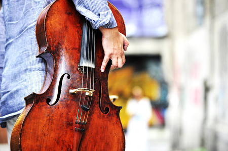Musician with cello instrument 写真素材