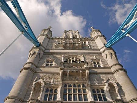 suspender: vertical suspender of tower bridge in london, england Stock Photo