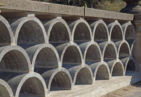 decorative arched concrete blocks photo