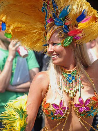 Copenhagen, Denmark - June 11, 2011 - Participant in the 29th annual Copenhagen Carnival parade 2011.