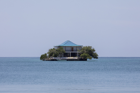 House in the paradise Rosario Island near Cartagena Colombia
