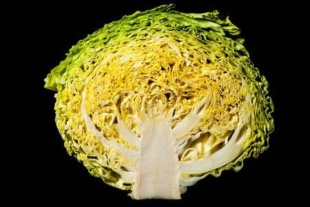Coupe transversale d'un «chou simple» révélant sa complexité interne