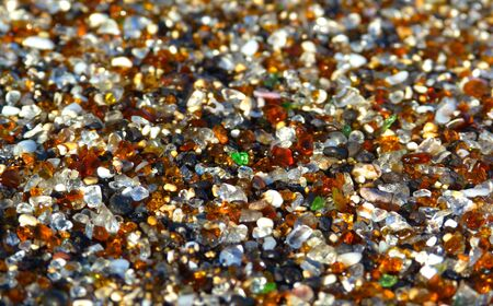 colores: Special sand beach from Hawaii Stock Photo