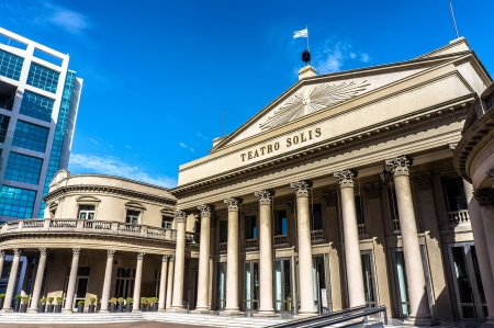 montevideo: View of the famous opera house Teatro Solis in Montevideo, Uruguay Stock Photo