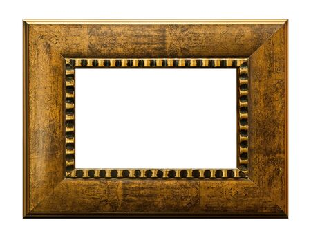 Wood picture frame on blank photo