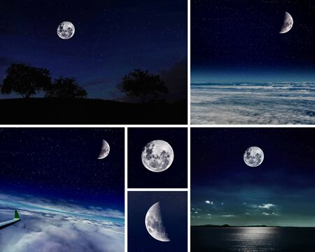 Collage of moon collection  photo