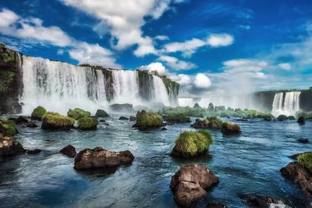 이과수 폭포, 이과수 국립 공원, 폭포, 아르헨티나, 브라질 스톡 콘텐츠