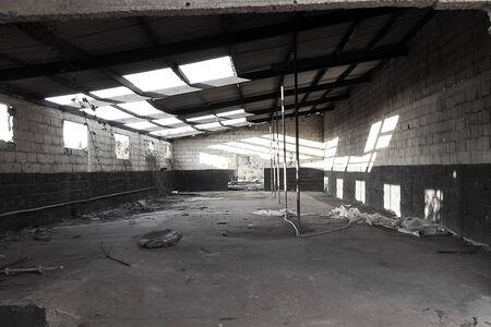 Old abandoned warehouse photo