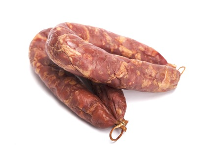 Isolated Sausage mix in a on a White Background