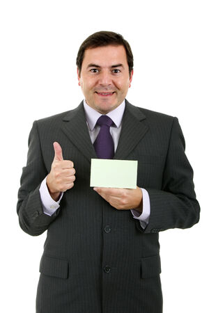 business man portrait on a white background photo